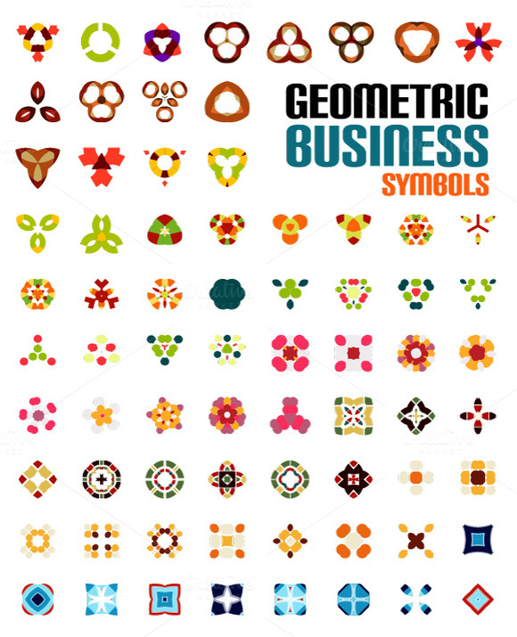 Set Of Geometric Business Symbols