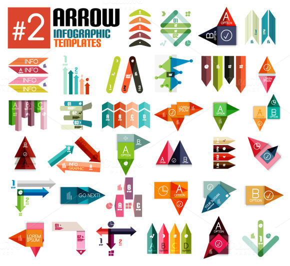 Arrow Infographic Templates Set