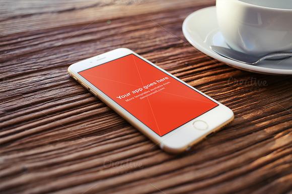IPhone 6 Mockup On Coffee Table