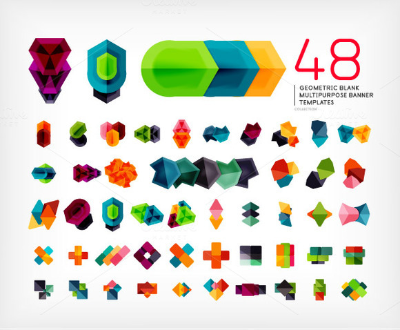 Mega Set Of Geometric Banners