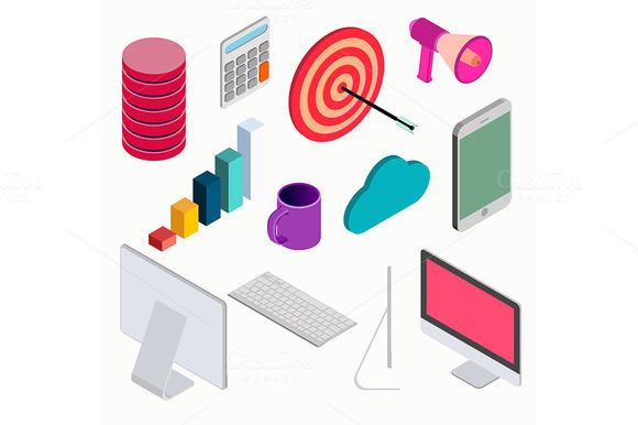 Business Isometric Elements