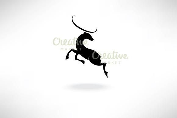 Silhouette Jumping Deer
