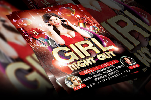 Girl Night Out Flyer