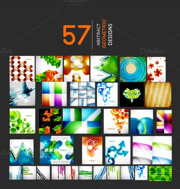 Abstract Geometric Designs Mega Set
