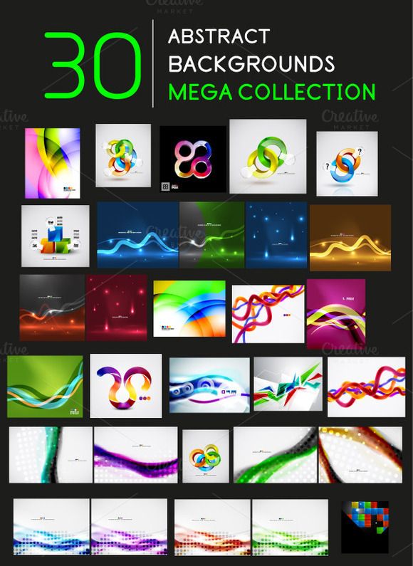 Abstract Background Mega Set