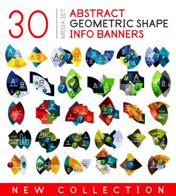 30 Geometric Info Banners