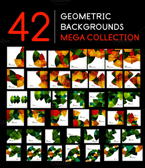 42 Geometric Backgrounds Set 1