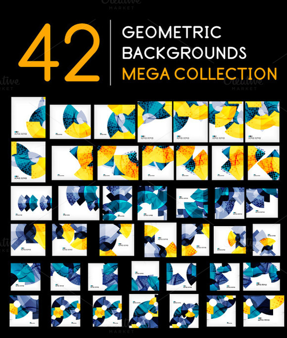42 Geometric Backgrounds Set 2