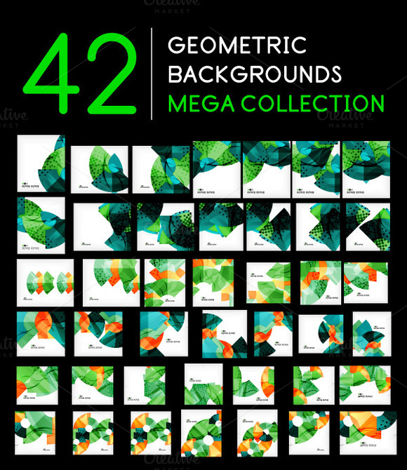 42 Geometric Backgrounds Set 4