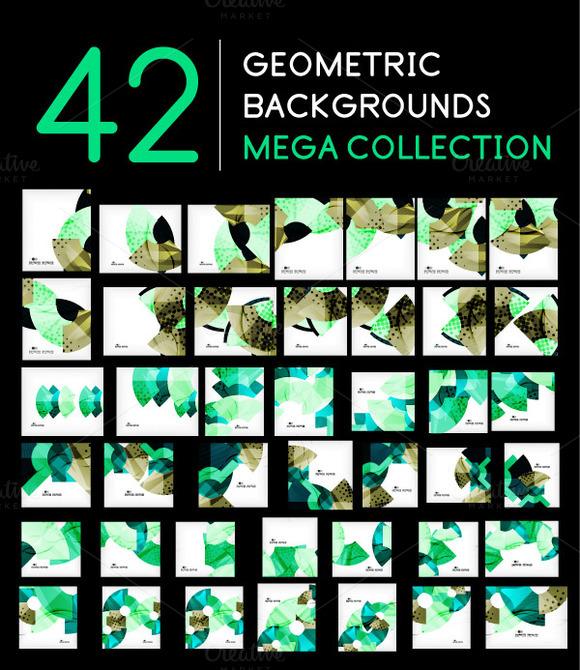 42 Geometric Backgrounds Set 5