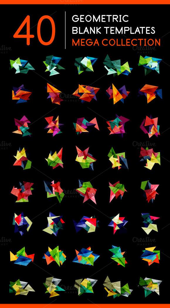 40 Blank Geometric Templates