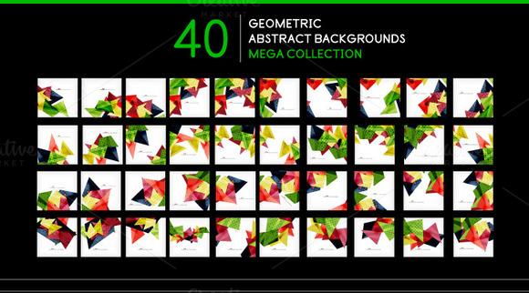 40 Geometric Backgrounds Set 2