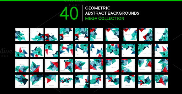 40 Geometric Backgrounds Set 3