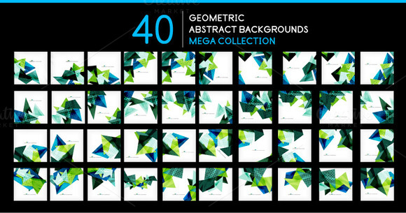 40 Geometric Backgrounds Set 4