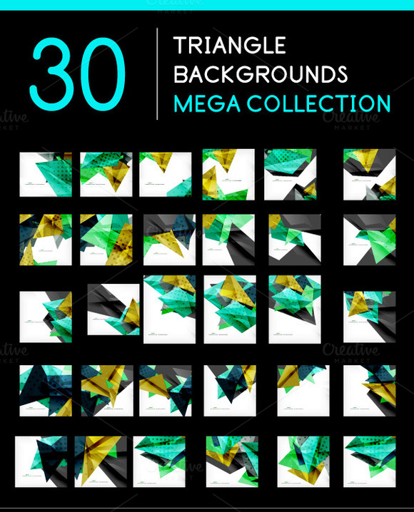 30 Triangle Backgrounds Set 5