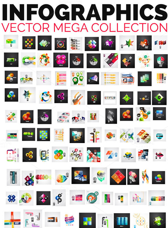 Mega Collection Glossy Infographics