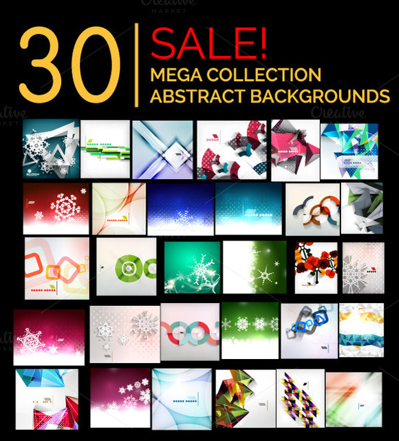 30 Abstract Backgrounds Set