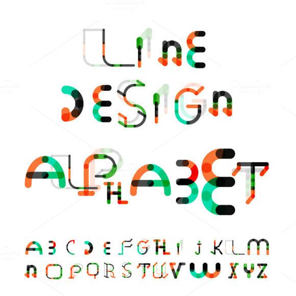 Line Design Alphabet Set 1