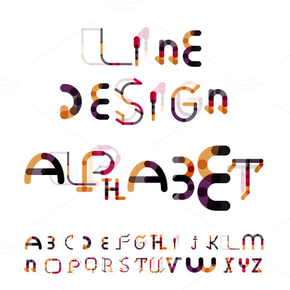 Line Design Alphabet Set 4