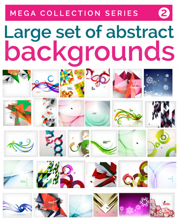 Large Set Of Abstract Backgrounds 2
