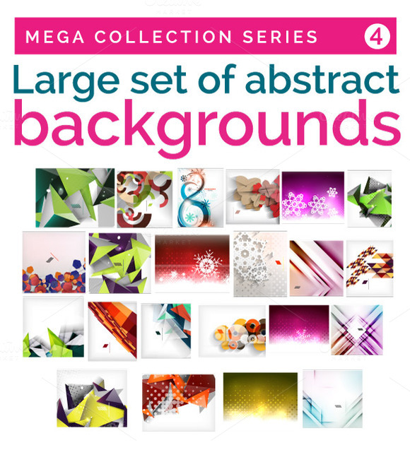 Large Set Of Abstract Backgrounds 4