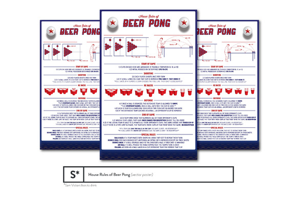 House Rules Of Beer Pong Poster