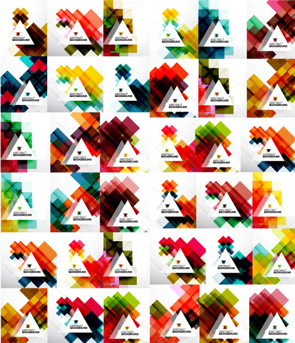 Geometrical Backgrounds Collection