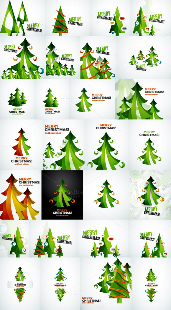 Christmas Tree Designs Collection 4