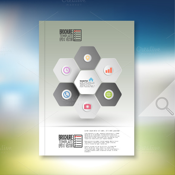 Hexagonal Brochure Or Flyer Pattern