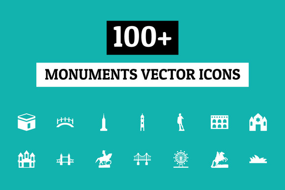 100 Monuments Vector Icons