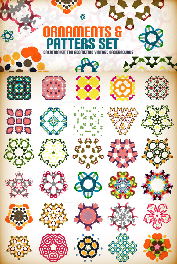 Abstract Vector Patterns Set 2