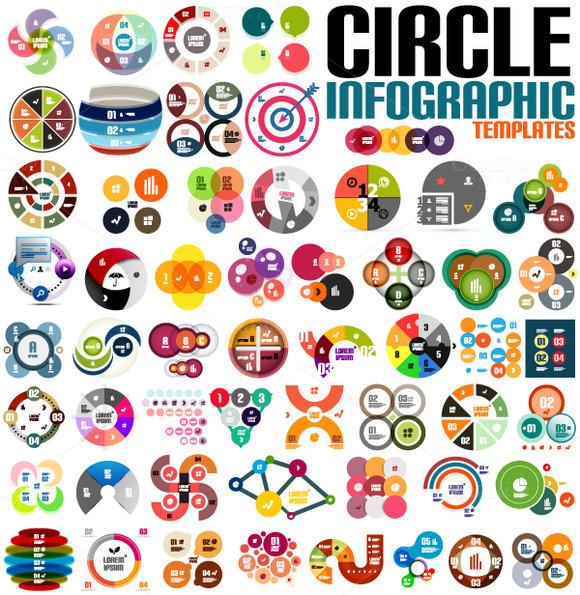 Circle Infographic Templates Set