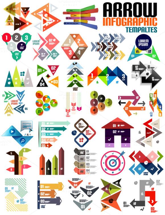 Arrow Infographic Templates Set