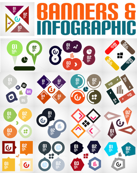 Infographic Banner Designs Set