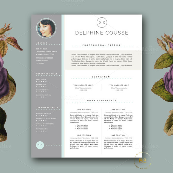 Creative Resume Design For MS Word