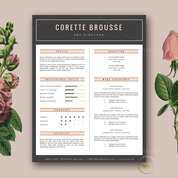 CV Template Design Modern Resume