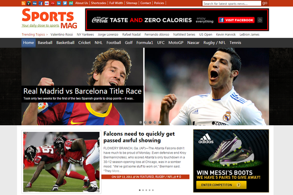 SportsMag Sports Magazine WP Theme