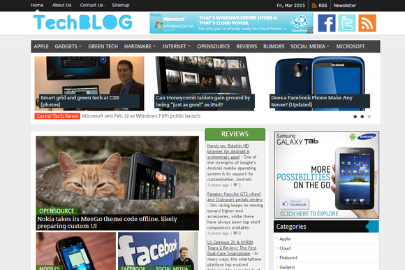 TechBlog Technology Blogging Theme