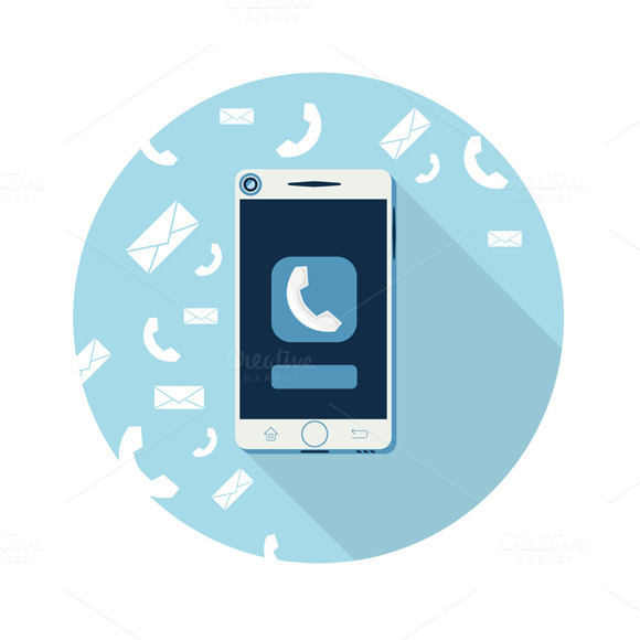 Smartphone Call And Sends Message