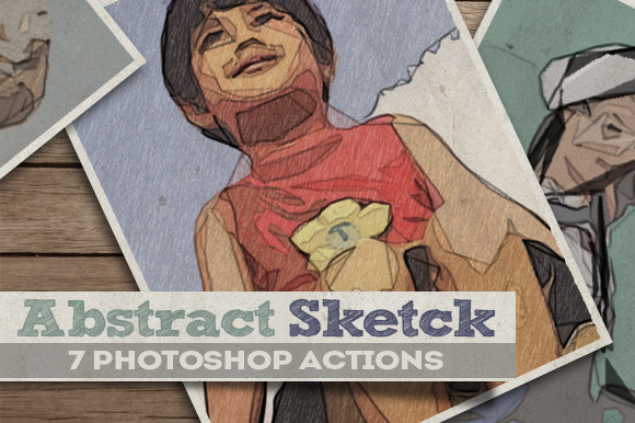 Abstract Sketch Comic Book Creator