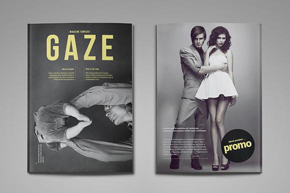 Gaze Magazine Template