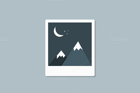 Mountain In The Moonlight Scenery