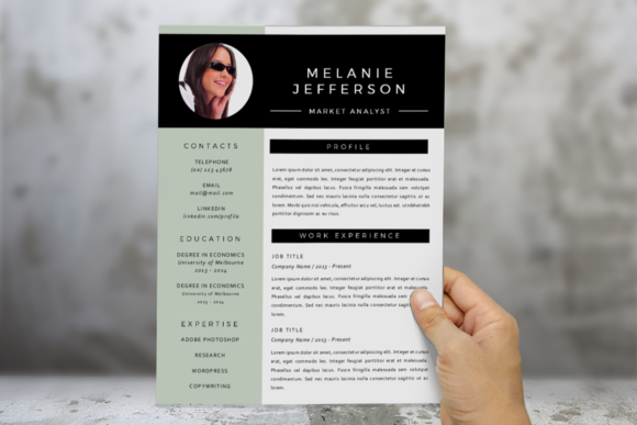 3 In 1 Modern Photo 2 P Resume