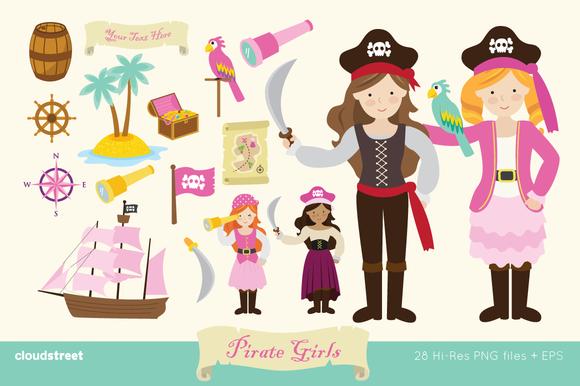 Pirate Girls Clipart