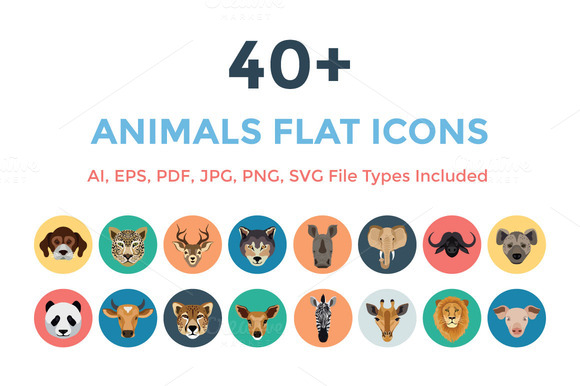 40 Animals Vector Icons