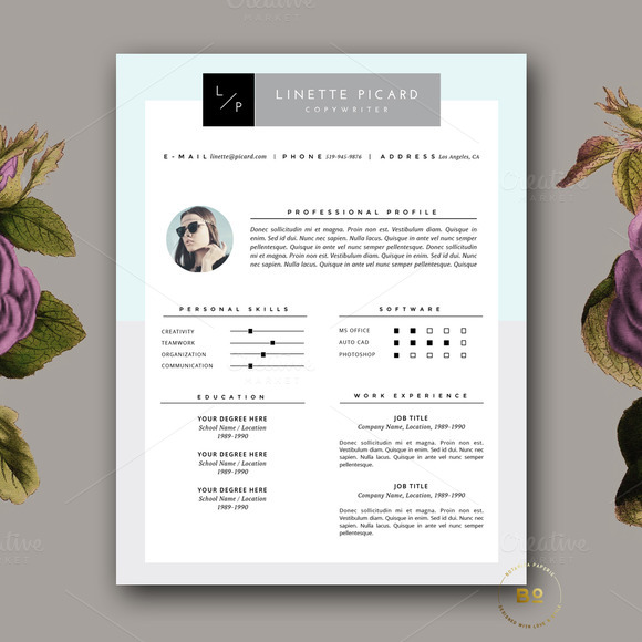 Clean Resume Design Cover Letter