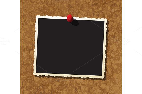 Photo Frame On Cork Board