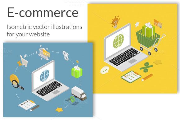 Isometric E-commerce Illustrations