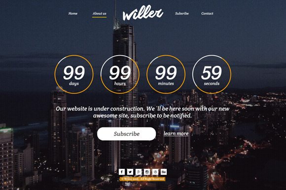 Willer Coming Soon Template