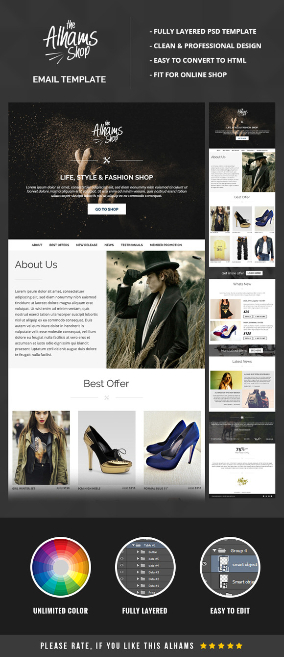 Alhams Email Newsletter Template